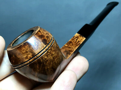 Road Town Middle Bulldog Style Briar wood craft pipe--- unsmoked