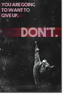 "Taekwondo Motivational Poster 03 ""DON'T give up."" Art Print Motivation Quote"