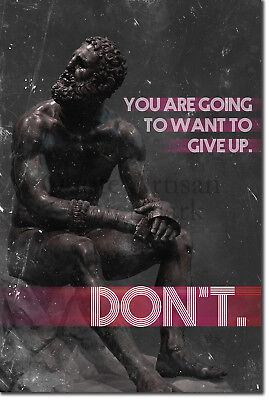 "Martial Arts Motivational Poster 03 ""DON'T give up."" Art Print Motivation MMA"