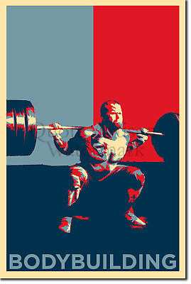 Bodybuilding Art Print 'Hope' - Photo Poster Gift - Weight Lifting Motivation