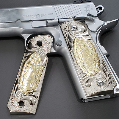 1911 GRIPS LADY of Guadalupe Fits Colt, Kimber, Rock Island SIG 1911 Grips  Nick