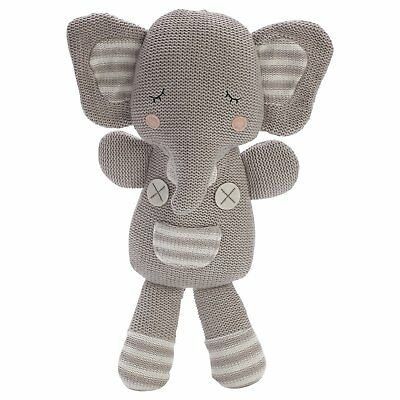Theodore the Elephant Soft Knitted Toy - 37 cm long- Living Textiles