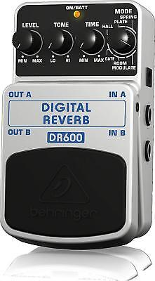 High-Resolution Stereo Reverb Effects Modulate Pedal Behringer Dr600 Digital New