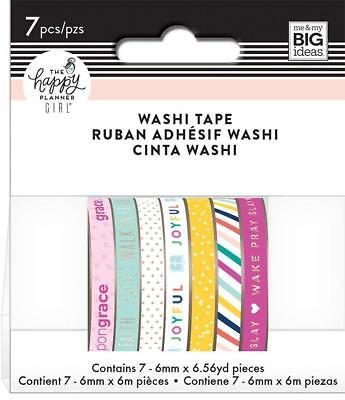 Happy Planner Girl: Faith Warrior - Skinny Washi Tape Set 6mm x 6m