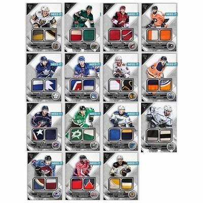 18-19 TRIPLE THREADS BASE DUAL RELIC COMPLETE SET OF 15  Topps NHL Skate Digital