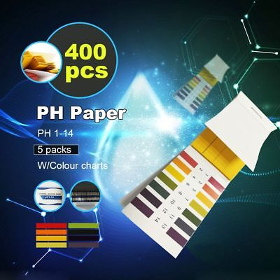 400x PH Test Strips Litmus Paper Test Urine Saliva Aquarium RO Water Healthcare