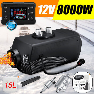 8000W 8KW 12V Diesel Air Heater 15L Tank With LCD Silencer For Truck Boat Car