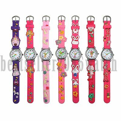 Cute Cartoon Pattern Watches Children Kids Girls Quartz Analog Wrist Watch Xmas