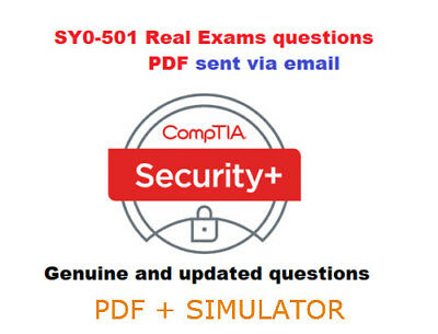 CompTIA Security+ SY0-501 verified exam questions *PDF* 🔥