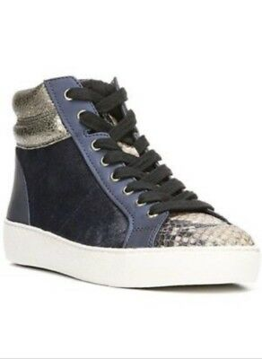 b337750e368c90 SAM EDELMAN BRITT High Top Sneakers sz 8.5 (fits 9) Navy Blue ...
