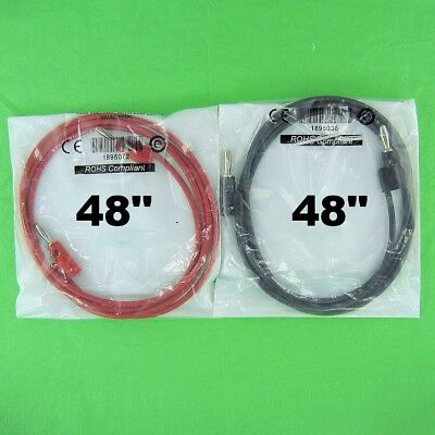 """Pomona 48"""" Red & Black Patch Cord Jumper Cable Leads Set, Stacking Banana Plugs"""