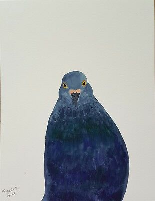 Pigeon 8.5 X 11 Watercolor Fine Art Archival Print by Brooklyn, New York Artist
