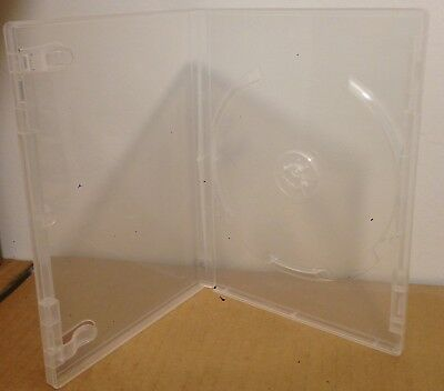 100 DVD Cases 1 Disc Empty 15mm Clear Glossy Professional Standard