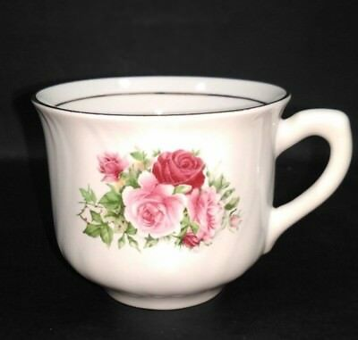 Vintage Formalities by Baum Brothers Maria Rose Coffee Cup Decorative Gold Trim