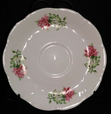Vintage Formalities by Baum Brothers 6 in. Coffee Saucer Maria Rose Gold Trim
