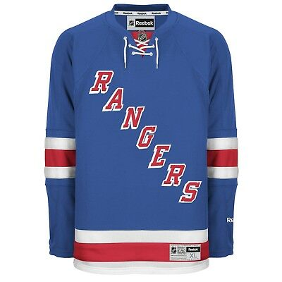 NEW YORK RANGERS Reebok Premier Officially Licensed NHL Home Jersey,