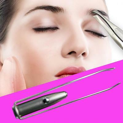 Stainless Steel+Led Light Hair Removal Clip for Eyebrow Eyelash Pointed Plucker