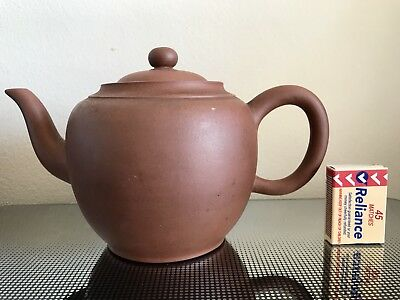 Old Large Chinese Yixing Teapot Signed