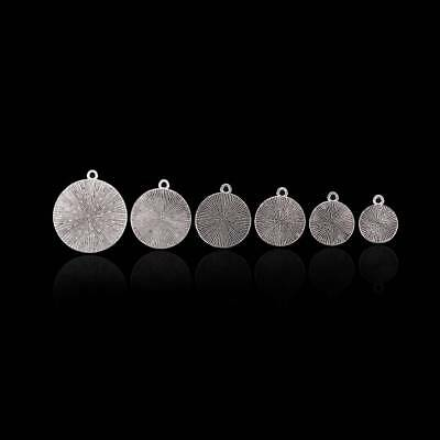 20Pcs 10-25mm DIY Alloy Base Cameo Setting Cabochon Charms Pendant Round