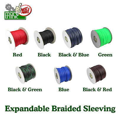 600'' Cable Sleeving Expandable Braided Tubing All Colors&Wides Nylon Sleeve LOT