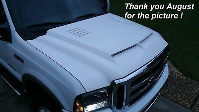 fiberglass hood for 1999 00 01 02 03 04 05 06 07 Ford F250HD, Excursion TEs type