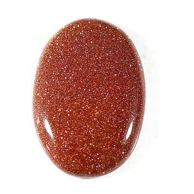 22.70 Cts Charming Glossy Goldstone Oval Cabochon Gemstone Loose Free Shipping
