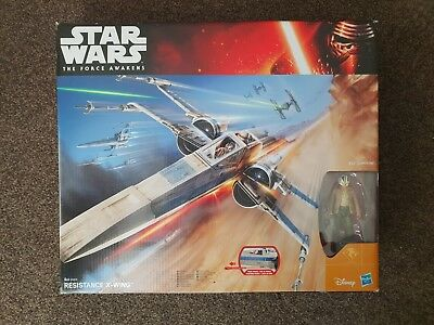 Star Wars 2015 The Force Awakens TFA BLUE RESISTANCE X-WING FIGHTER Poe NEW
