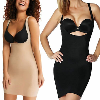 Control Shaping Dress Support Under bust Nude Black 10- 30 Plus size Shape wear