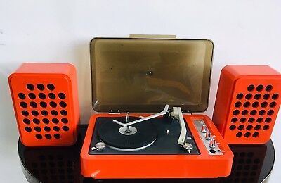 Vintage Retro Stereo Rebel Red Table Top  Record Player