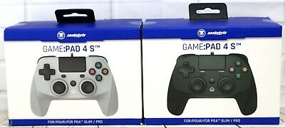 Snakebyte PS4 Wired Controller for Sony Playstation 4 Game:Pad 4 S Black / Grey
