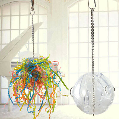Colorful Pet Bird Bites Toy Parrot Chew Ball Toys Cage Swing Hanging Cockatiel