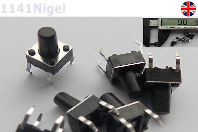 6mm x 6mm x 9mm Momentary Micro switch push button New ........(Pack of 2-20)