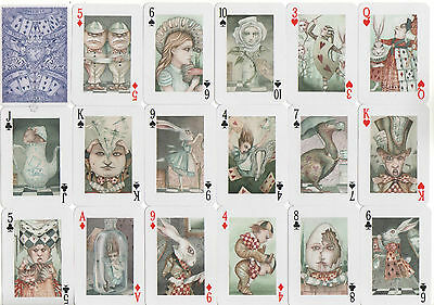 Alice in Wonderland Art Playing Cards Miniature Pack Dominic Murphy Collectable