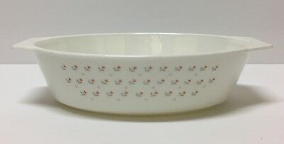 Rare Vintage Pyrex England Laura/Tulip Oval Casserole Dish Mint Condition