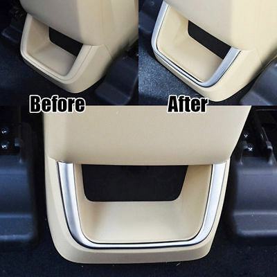 Durable Chrome Rear Air Vent Armrest Cover Trims Fits For Toyota Highlander 2015