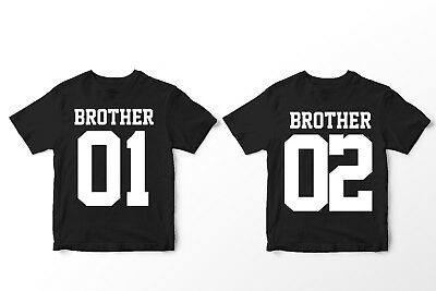 Brother 01 + 02 - Partnershirts Brüder Geschwister T-Shirt Taufe Kinder Fun BFF
