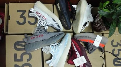 BOYS GIRLS SHOES Yeezy-Boost 350 V2 KIDS GENUINE SPORTS RUNNING TRAINERS