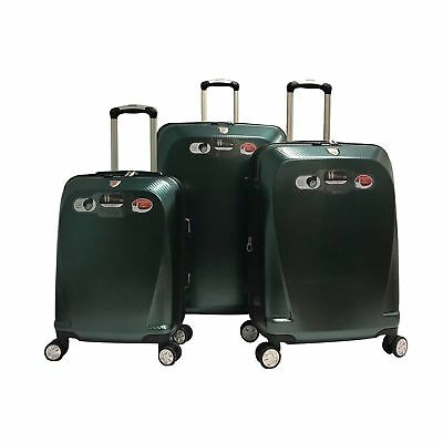 3 Piece 100% Polycarbonate Luggage Set Suitcase Spinner Hardshell Lightweight