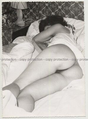 Rear View Of Sleeping Womans' Naked Butt (Vintage Photo B/W ~ 1960s)