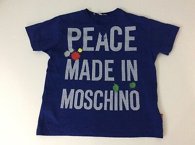 Moschino Blue T Shirt Top Age 5 Years Vgc