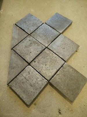 Reclaimed 6 inch Square Victorian Staffordshire Blue Quarry Floor Tiles