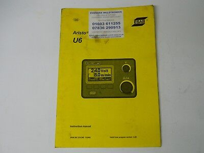 ESAB Aristo origo U6 manual paper back