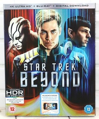 Star Trek Beyond 4K Ultra HD & Blu-Ray & Digital Download (2016) Region Free New