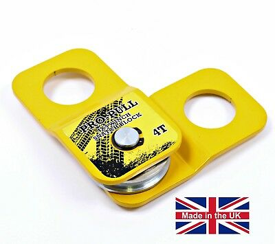 Winch Snatch Block 4 Ton 4x4 Pulley Landrover Off Road Trailor Recovery