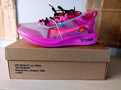 a98ac9817d4 OFF-WHITE X NIKE Zoom Fly SP Pink