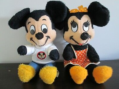 Vintage California Stuffed Toy Co Walt Disney Mickey and Minnie Mouse GOOD COND