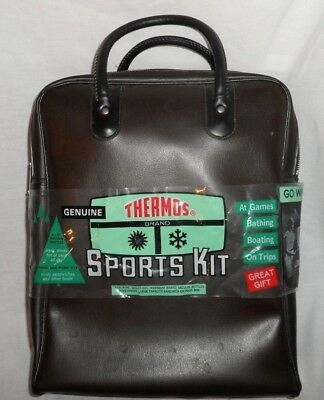 Vintage 1968 Thermos Sports Kit 1 No. Plastic and metal - 3 Piece - Brand New!