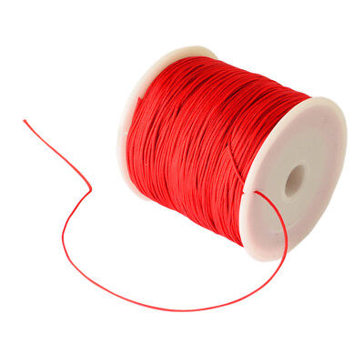 100Yard/Roll 0.8mm Braided Red Knotting Silk Cord String Thread Beading Rope