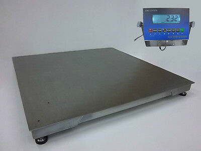 SWS-7620-SS-LCD, 10,000 x 2 lb, All Stainless-Washdown 4' x 4' Floor Scale