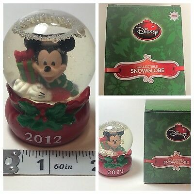 2012 Mickey Mouse Disney JCPenney Snow Globe Black Friday Gift Christmas